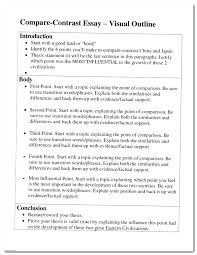 example of a compare contrast essay example comparison essay compare contrast essay outline comparison