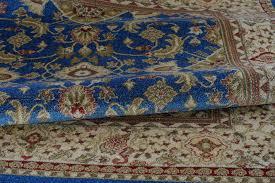 blue cream traditional area rug