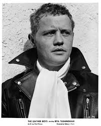 dudley sutton as pit in the version of the leather boys wearing a lewis leathers er jacket