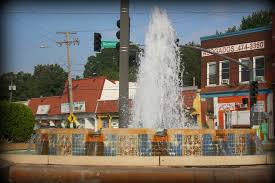 a colorful tiled fountain welcomes visitors to the westside of kansas city the westside is known for it s large hispanic population and some of the best