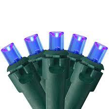 Blue Wide Angle Led Christmas Lights Northlight Set Of 50 Blue Led Wide Angle Christmas Lights Green Wire