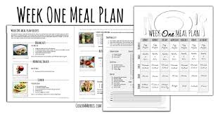 Weekly Meal Planning For One Weekly Meal Plan 1 To Insanity Back