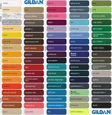 Gildan 5000 Color Chart 2018 36 Curious Gildan Color Chart Download