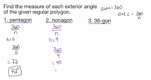 Finding Exterior Angles Of Polygon