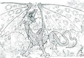 Printable Flying Dragon Coloring Pages Realistic Night Colori Free