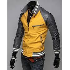 mens slim fit casual sports mustard yellow jacket