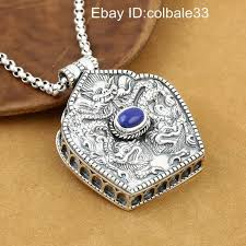 details about 925 sterling silver dragon pendant men gawu box man pendants amulet uni lucky