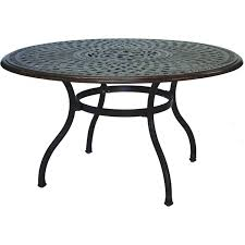 darlee series 60 52 inch cast aluminum patio table w
