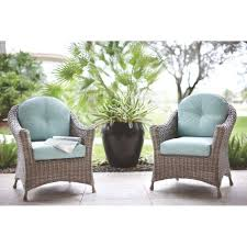 martha stewart living lake adela patio weathered grey chat chairs