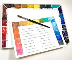 Watercolor Palette Chart Setting Up Watercolor Palette Colors Like A Pro A Beginners