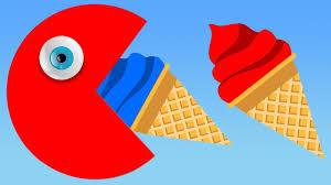 Learn Colors With 3d Ice Cream And Pacman For Kids Toddlers Babies
