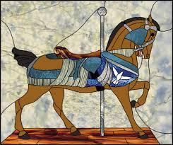 hercules carousel horse hercules carousel horse stained glass pattern 5 00 hercules carousel horse