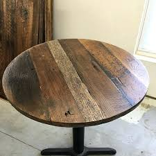 recycled wood table top circle reclaimed wood table tops 36 round reclaimed wood table top