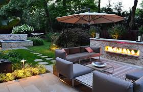 Modern Patio Furniture Implemented for Fresh House Landscape