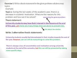 problem solution essay ppt video online  hint about the solution write 2 alternative thesis statements