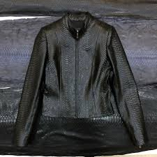 details about women s genuine python leather made to measure black luxury snake skin jacket