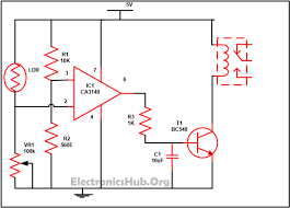 ldr circuit diagram relay info automatic street light controller using relays and ldr wiring circuit