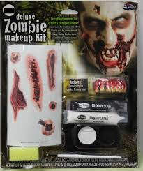 dels about zombie tattoos makeup deluxe kit teeth scabs scary monster gore walking dead new