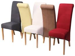 Fabric Dining Room Chairs Uk Cushioned Dining Room Chairs Furniture Wooden Upholstered Dining