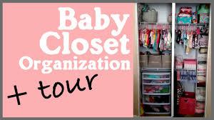 baby nursery closet organization ideas tour