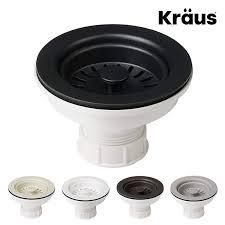 Kraus Kitchen Sink Strainer For 35 Inch Drain Openings In Black