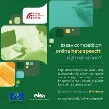 elsa cagliari  europei e internazionali news  online hate speech   hate speech essay competition prendendo