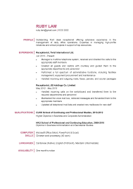 Resumes Receptionist Resume Samples Templates For In School Examples
