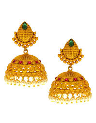 South Indian Traditional Gold Earrings Designs Buy Anuradha Art Gold Finish South Indian Styled Beautiful