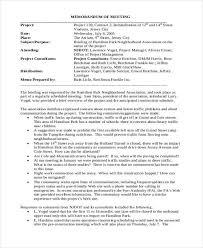16 Meeting Memo Free Sample Example Format Download