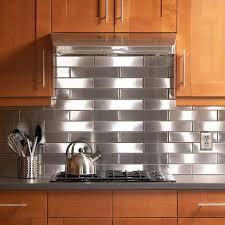 Steel Backsplash Kitchen Stainless Steel Backsplash Behind Range Linoleum Flooring Square