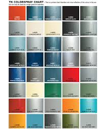 Metallic Spray Paint Color Chart Best Picture Of Chart