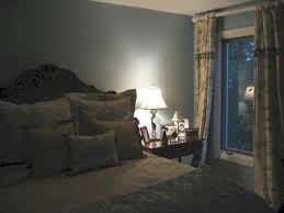 Bedroom with great window treatments