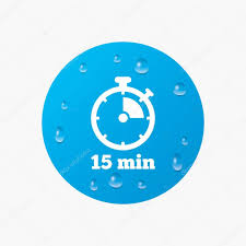 Timer For 15 Min 15 Minutes Timer Stopwatch Symbol Stock Vector Blankstock