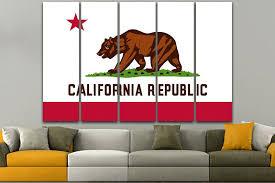 california flag canvas art print