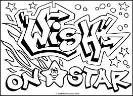 Pin Graffiti Coloring Pages Names Pelautscom Kleurplaat