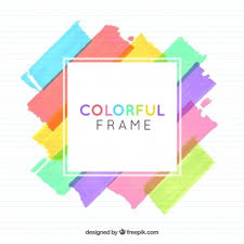 colorful frame border design. Contemporary Frame Watercolor Frame Background Inside Colorful Frame Border Design