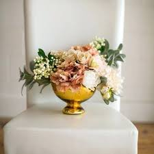 gold mercury glass vases vase wedding wide bowl x 5 tall but i would prefer copper rose carraway flower