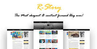 Resume Html Template Awesome RStory Creative Personal Blog HTML Template Template
