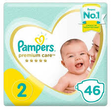 Pampers Premium Care Diapers Size 2 Mini 3 8 Kg Mid Pack 46 Count