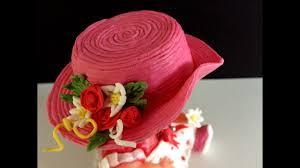 Fondant Hat Hat For A Doll Cake Decoration Fondanthut Birthday