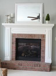 salmon brick fireplace