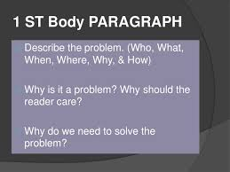 problem solution essay  background information 8