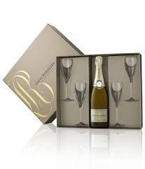 Champagne Louis Roederer Coffret Bouteille 4 Fl Tes Package