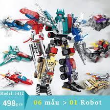 Bộ đồ chơi lắp ráp Robot Không Gian Kích thước 38*27 cm Bằng nhựa ABS an  toàn | HKT Home Shopping