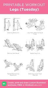 Printable Workout Legs Printables Exercise Workout
