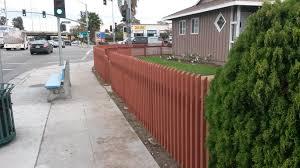 front yard custom wood fence gate torrance 90504 built by woodfenceexpert com