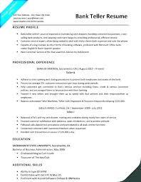 Objective For Resume For Bank Job Objective For Resume For Bank Teller Paknts Com