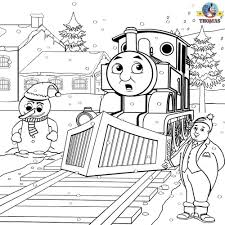 Thomas and his friends coloring pages ebcs 098eb82d70e3 thomas and friends surprised coloring page winter printable worksheets thomas the train colori with