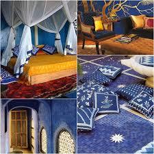 india inspired interiors indigo blue