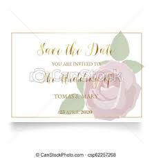 Wedding Invitation Template Wedding Invitation Template With Rose Ring And Leaf